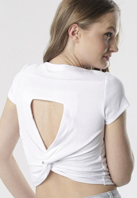 Biały T-shirt Nysalane