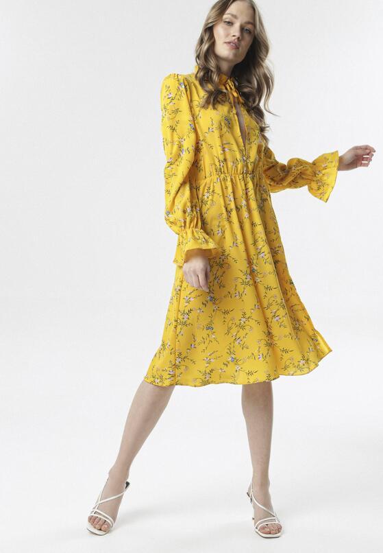 Żółta Sukienka Melicine
