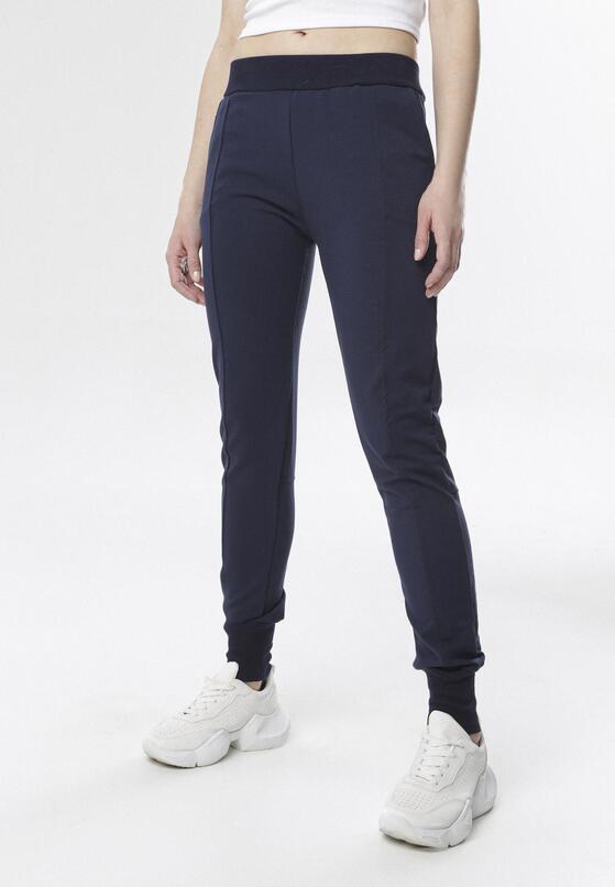 Granatowe Spodnie Dresowe Chenely