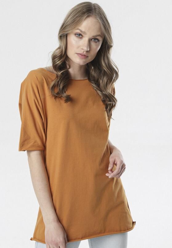 Camelowy T-shirt Raemare