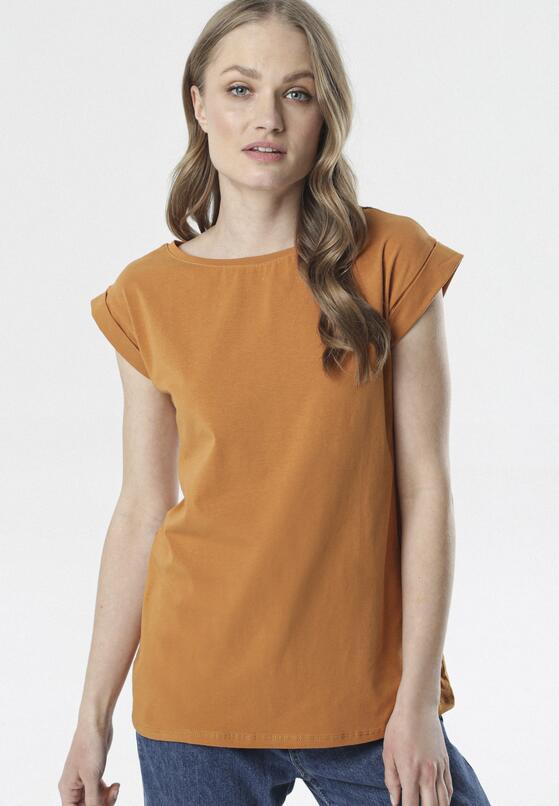 Camelowy T-shirt Noebelle