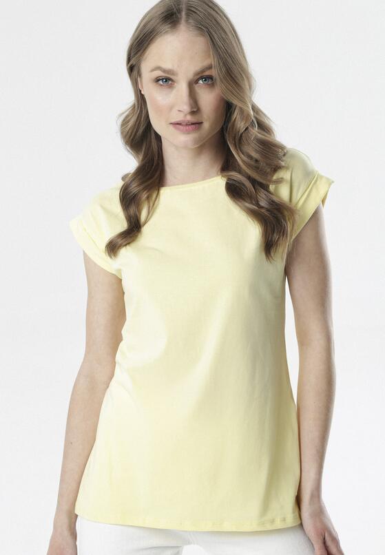 Jasnożółty T-shirt Noebelle