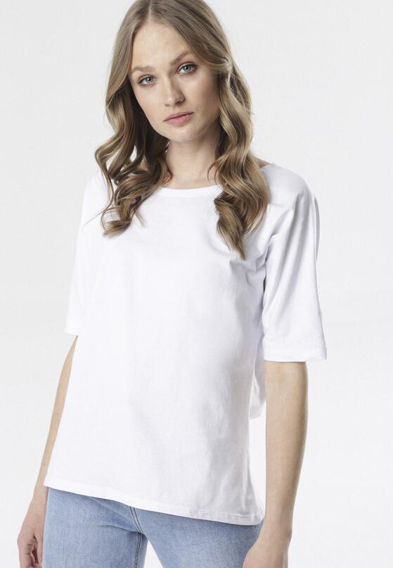 Biały T-shirt Delofer