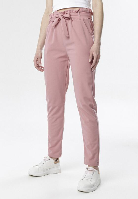 Różowe Spodnie Paper Bag Rhaeneira