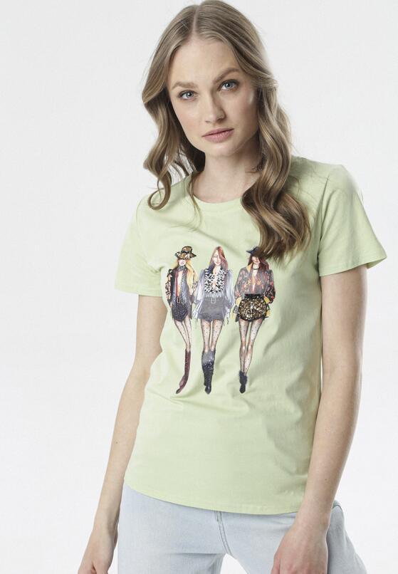 Jasnozielony T-shirt Aquiciane