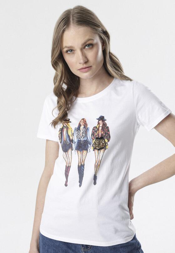 Biały T-shirt Aquiciane