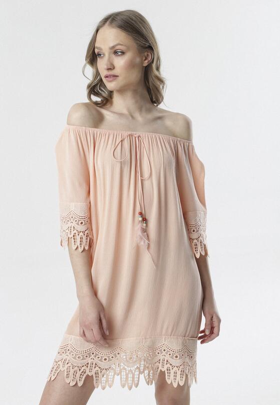Łososiowa Sukienka Rhaeneira