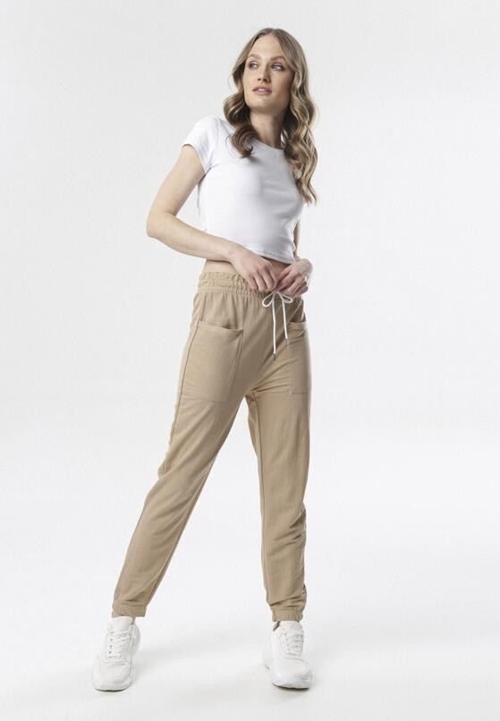 Beżowe Spodnie Raisea