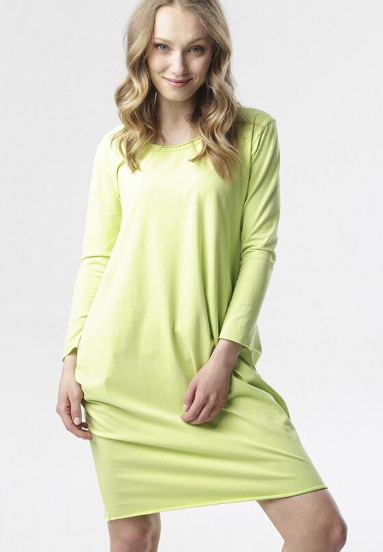 Limonkowa Sukienka Adrieta