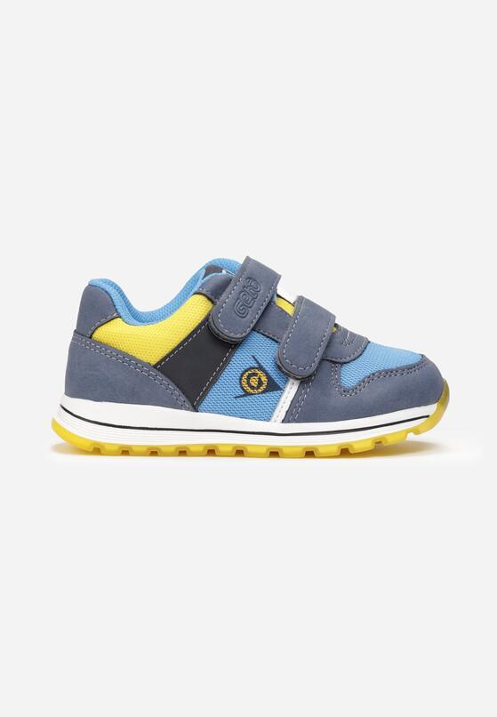 Żółto-Niebieskie Buty Sportowe Jipolis