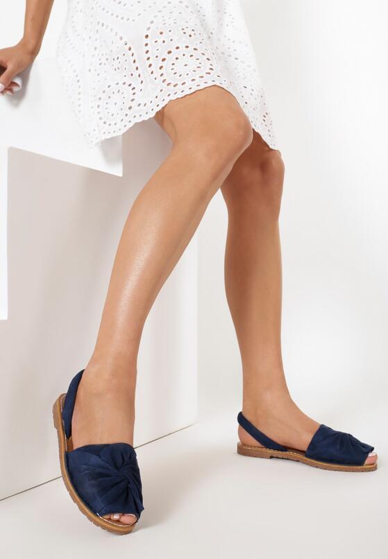 Granatowe Sandały Coraevia