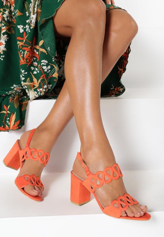 Pomarańczowe Sandały Lariete