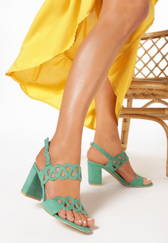 Miętowe Sandały Lariete