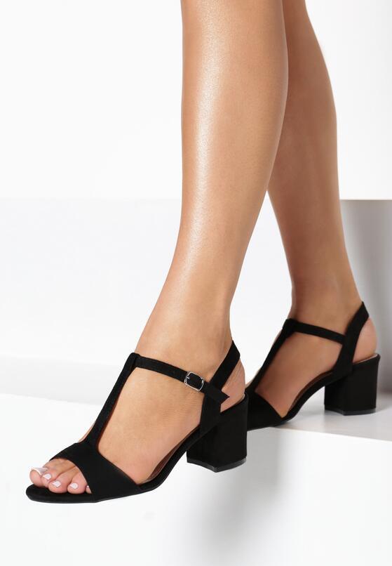 Czarne Sandały Haithoe
