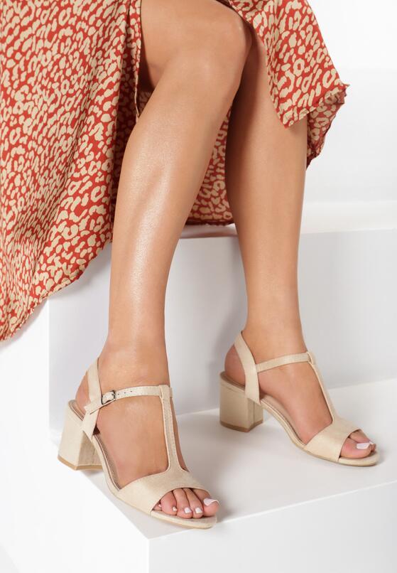 Beżowe Sandały Haithoe