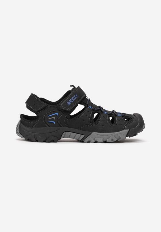 Czarno-Niebieskie Sandały Aroameine