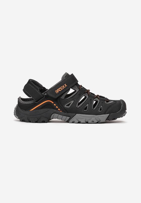 Czarno-Pomarańczowe Sandały Memei