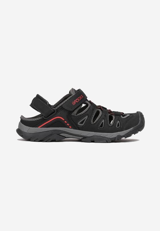 Czarno-Czerwone Sandały Donoe