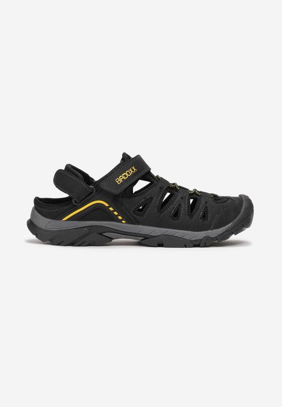 Czarno-Żółte Sandały Donoe