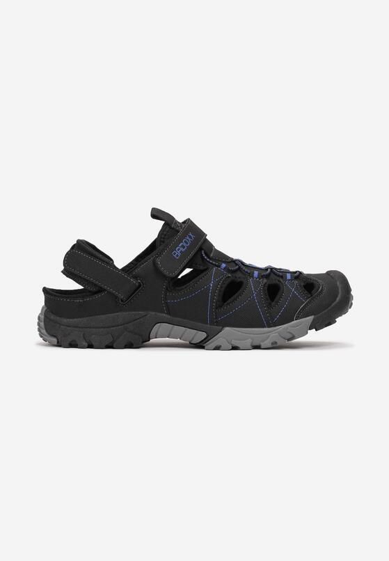 Czarno-Niebieskie Sandały Brisana