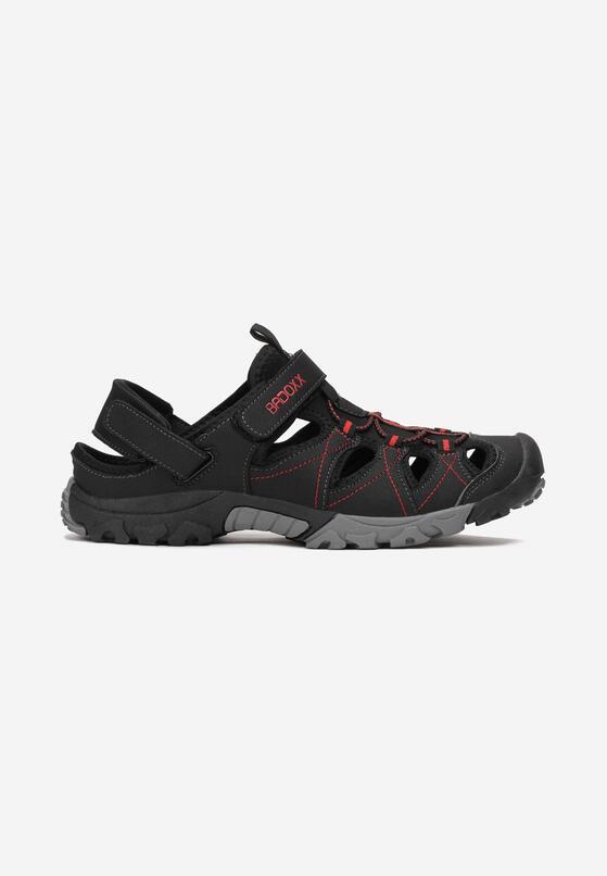 Czarno-Czerwone Sandały Brisana