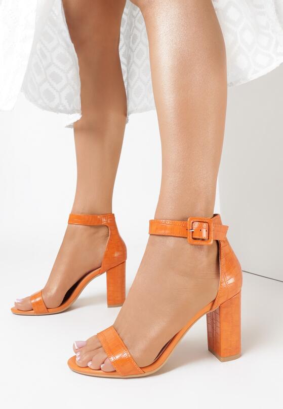 Pomarańczowe Sandały Delothia