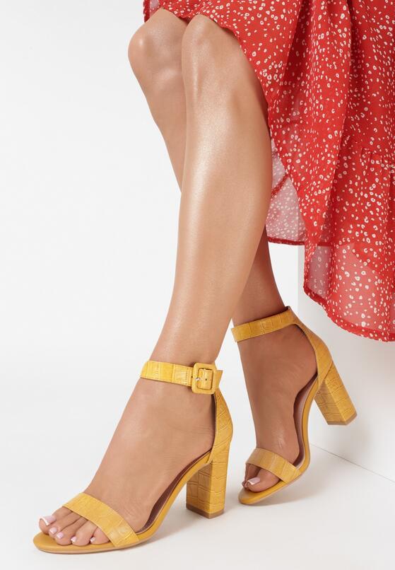 Żółte Sandały Delothia