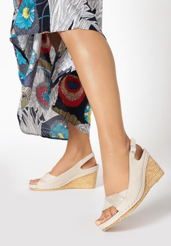 Beżowo-Złote Sandały Dorealila