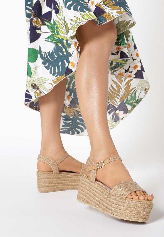 Beżowe Sandały Muriegune