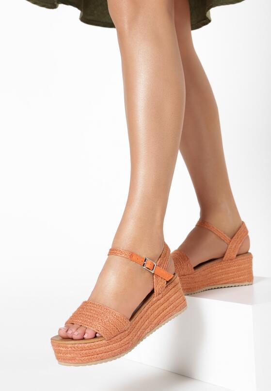 Pomarańczowe Sandały Leuconia