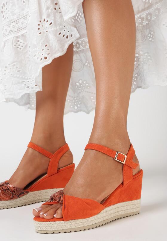 Pomarańczowe Sandały Celarea