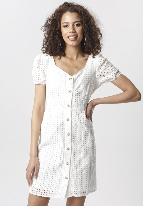 Biała Sukienka Pasimene