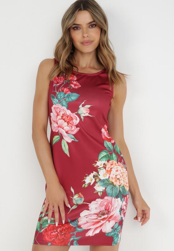 Bordowa Sukienka Aetheve