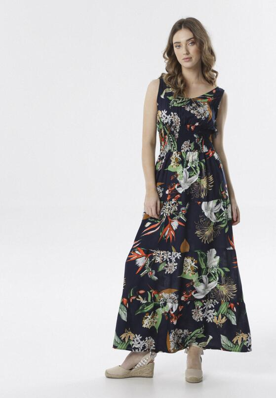 Granatowa Sukienka Aeleocine