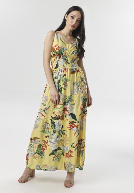 Żółta Sukienka Aeleocine