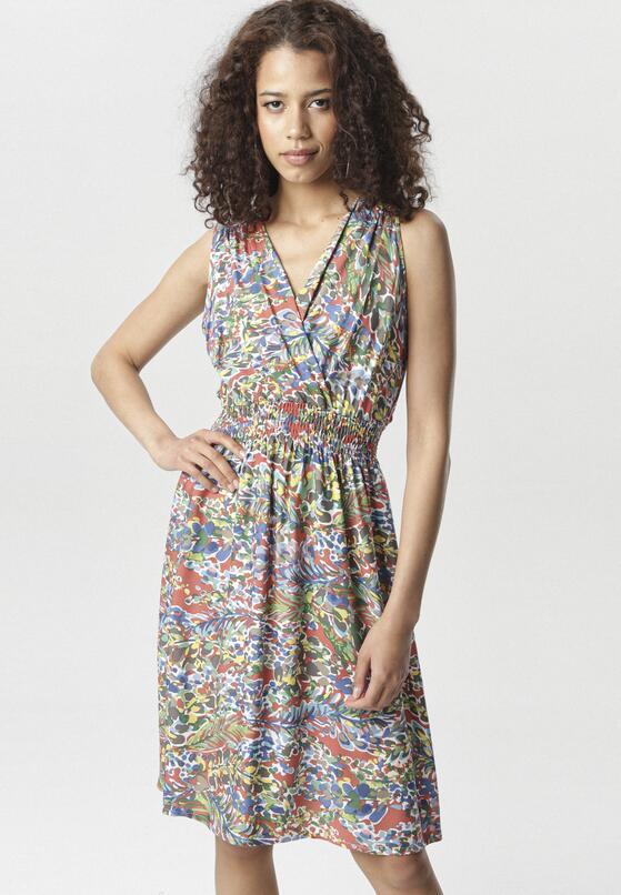 Łososiowo-Niebieska Sukienka Assavien