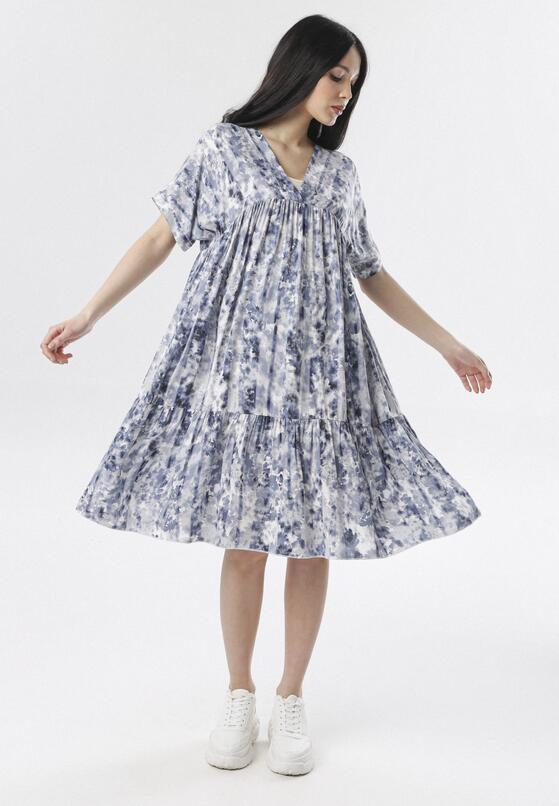 Niebieska Sukienka Phiriope
