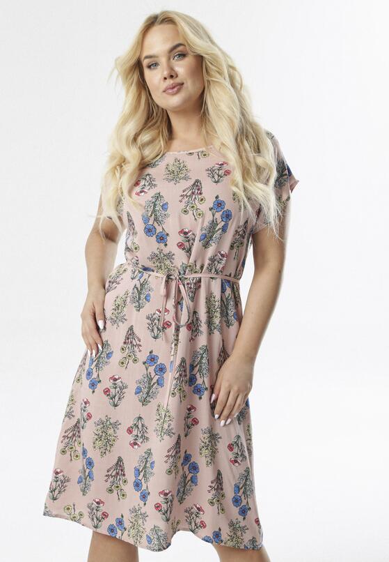 Różowa Sukienka Adrane