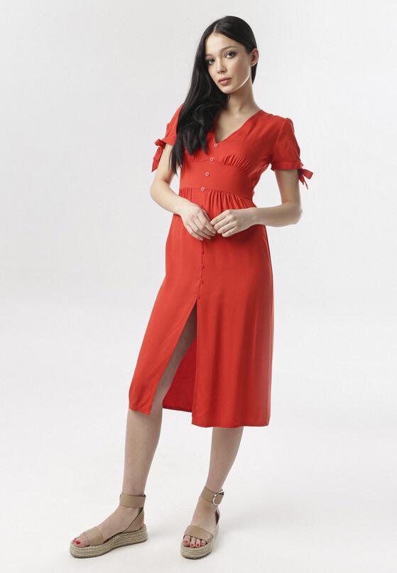 Czerwona Sukienka Himedise