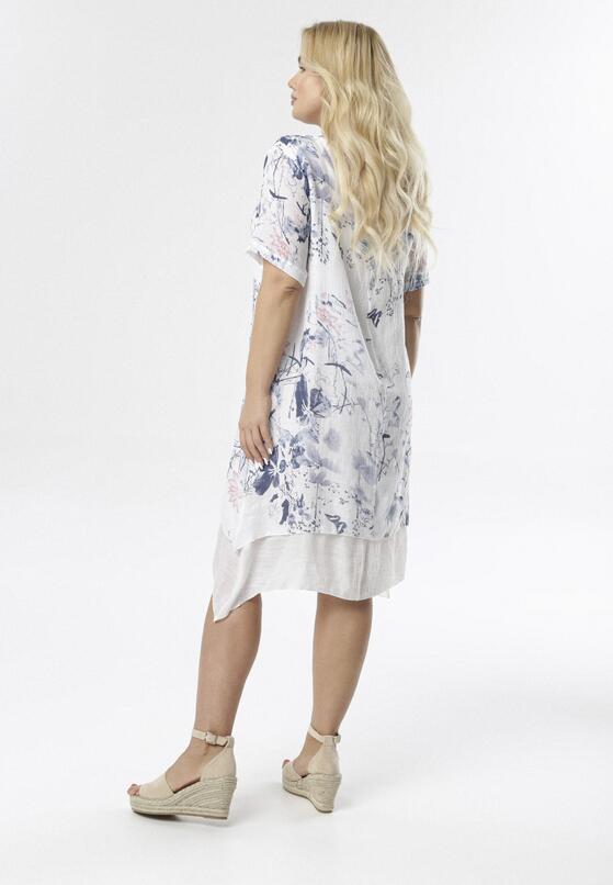 Biało-Niebieska Sukienka Coraeriel