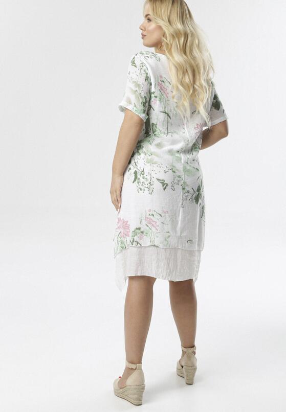 Biało-Zielona Sukienka Coraeriel