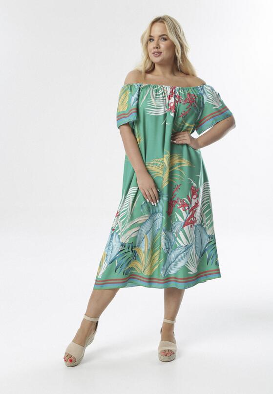 Zielona Sukienka Menome