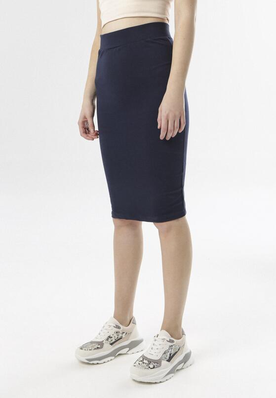 Granatowa Spódnica Aurarith