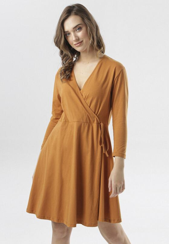 Camelowa Sukienka Thelrea