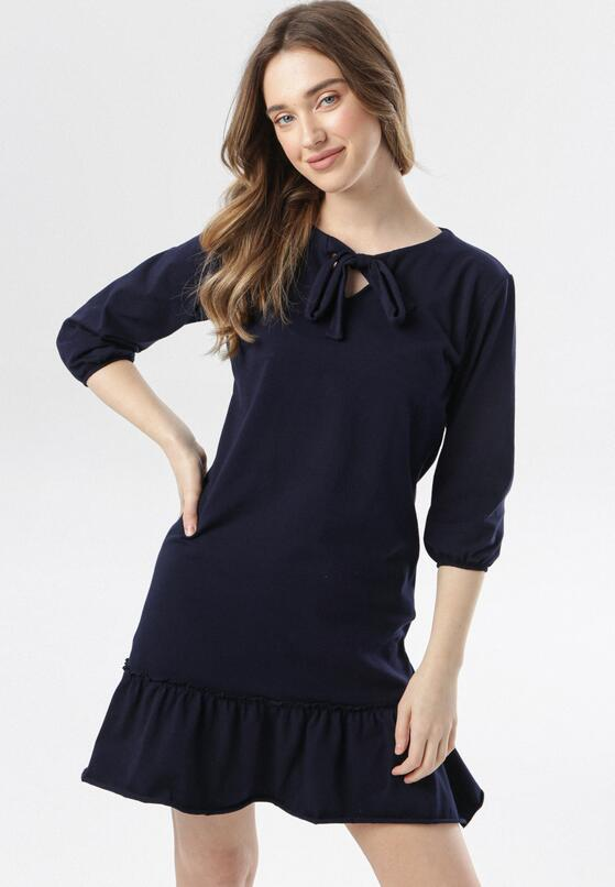 Granatowa Sukienka Morgalla