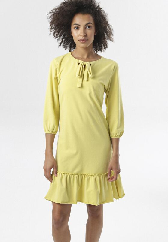 Jasnożółta Sukienka Morgalla