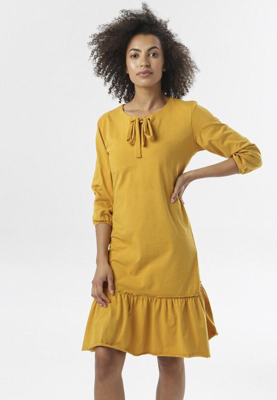 Żółta Sukienka Morgalla