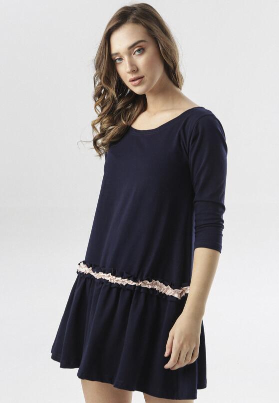 Granatowa Sukienka Thelxiemeine