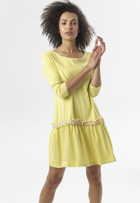 Jasnożółta Sukienka Thelxiemeine