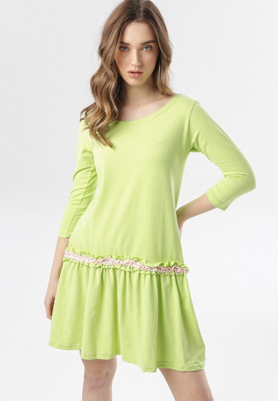Limonkowa Sukienka Thelxiemeine